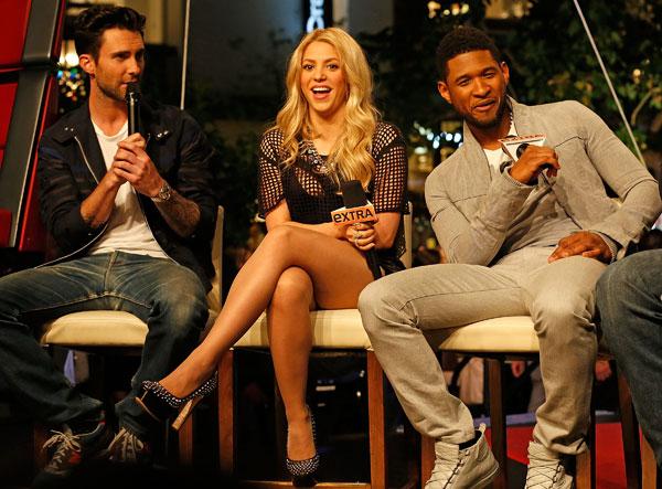 Shakira y sus compañeros de La Voz