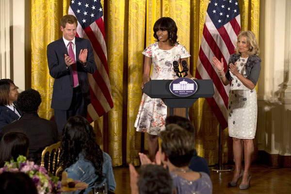 Harry de Inglaterra y Michelle Obama