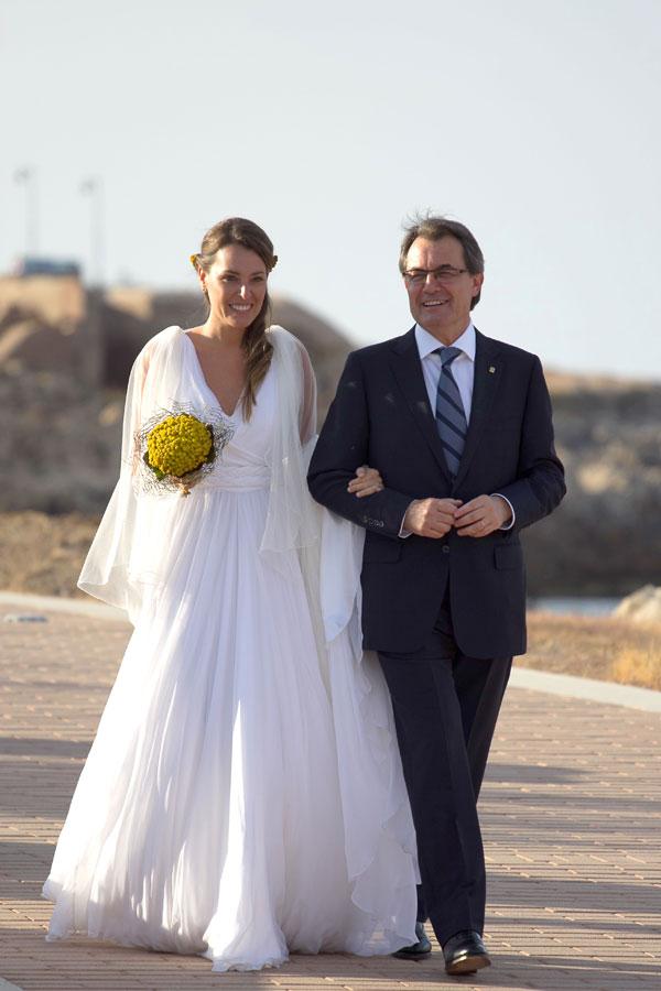 Artur Mas y su hija Patricia