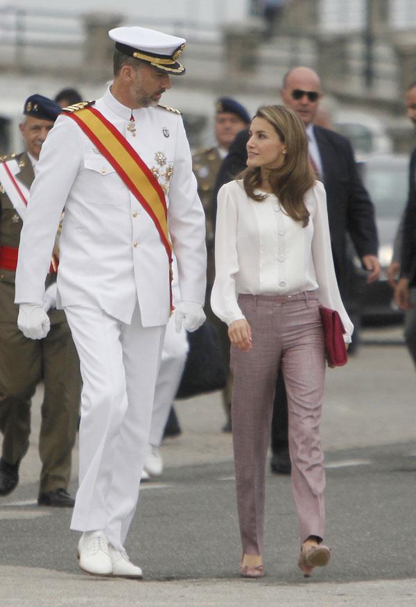 Los príncipes de Asturias en Marín