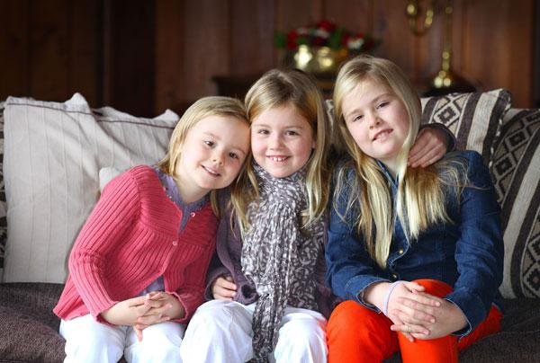 las hijas de guillermo y maxima de holanda, amalia, alexia y ariane