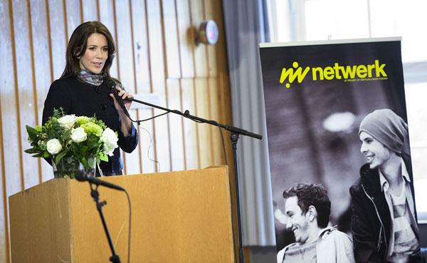 La princesa Mary de Dinamarca pronunció un breve discurso