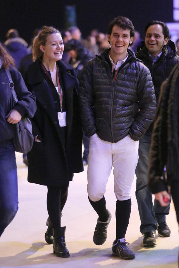 Marta Ortega y su marido en el Master Gucci de París