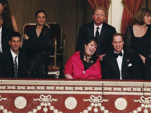El príncipe Guillermo, Boris Becker y Sadie Frost