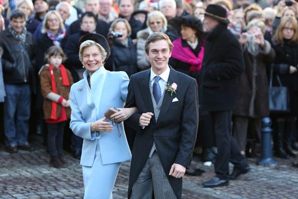 Astrid de Luxemburgo y su hijo Christoph