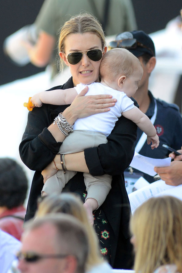 Marta Ortega y su hijo Amancio