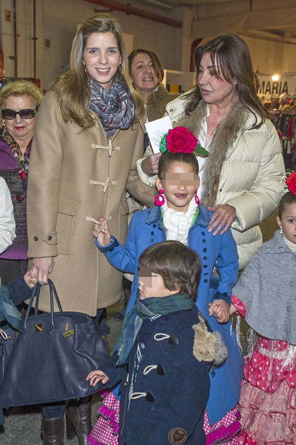 Carmen Martínez Bordiu con su nuera y sus nietos