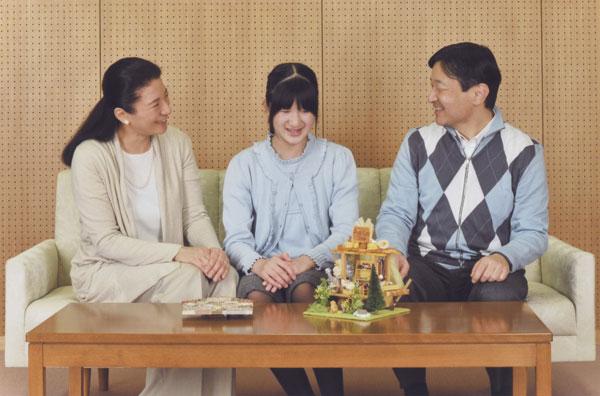 Naruhito y Masako con su hija Aiko