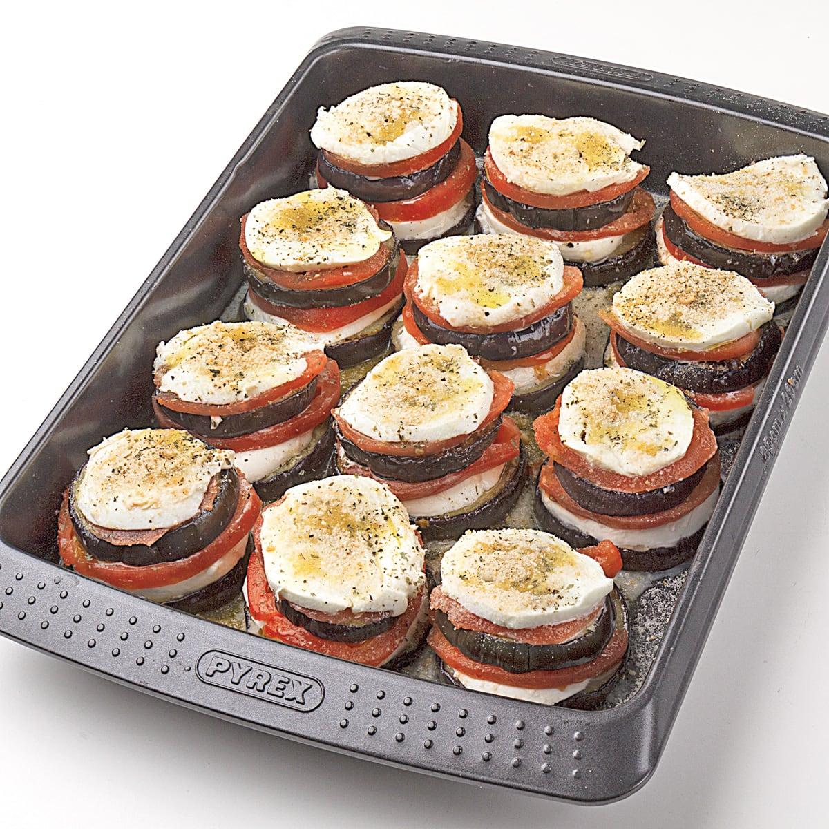 Recetas de berenjenas al horno con mozzarella y queso