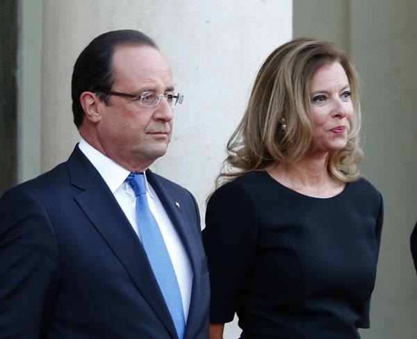 François Hollande y Valerie Trierweiler