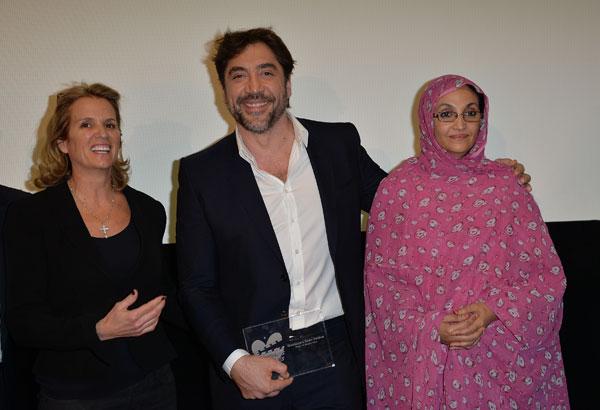 Javier Bardem, Kerry Kennedy y Aminatou Haidar
