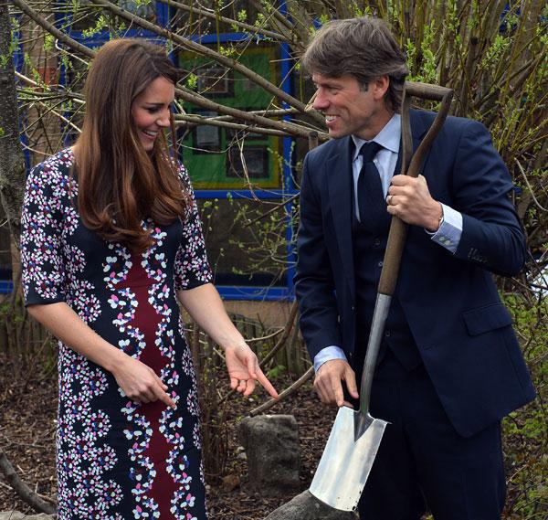 Kate Middleton y el comediante John Bishop