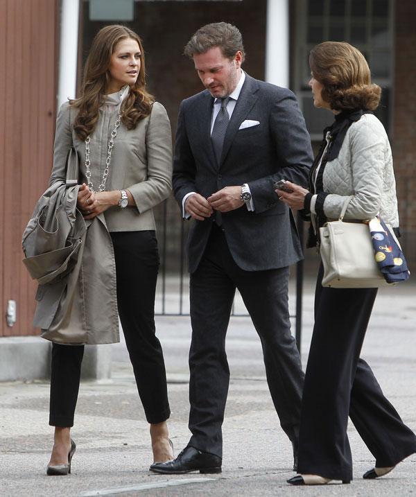 Magdalena de Suecia y Chris O'Neill con la reina Silvia