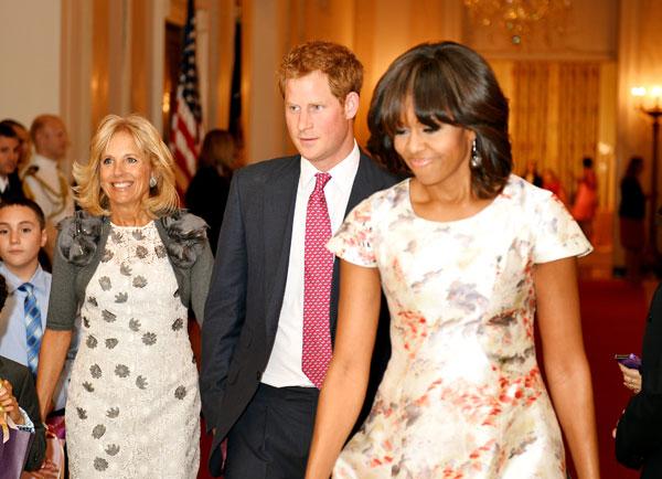 Michelle Obama, principe Harry y Jill Biden