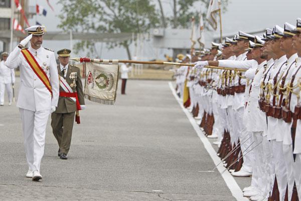 El príncipe Felipe en Marín