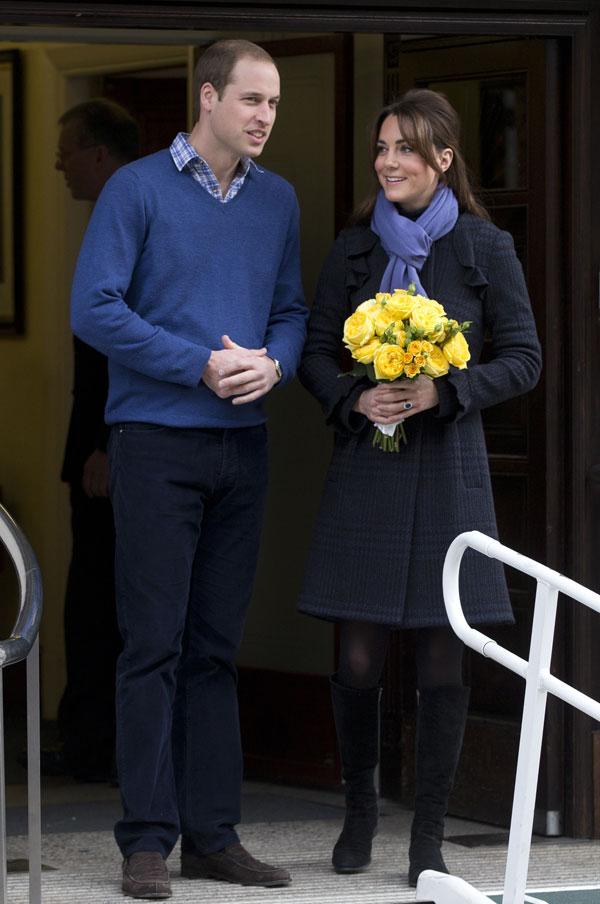 Los duques de Cambridge salen del hospital
