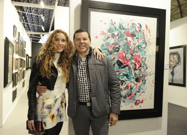 Blanca Cuesta y el pintor venezolano Pedro Sandoval