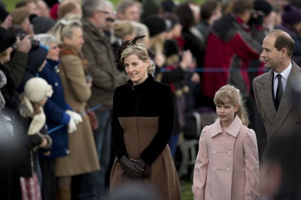 Los Condes de Wessex con su hija, lady Louise