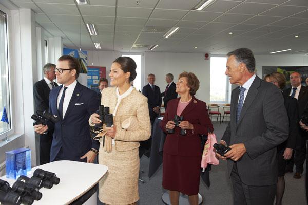 Victoria y Daniel de Suecia con el matrimonio Cavaco Silva