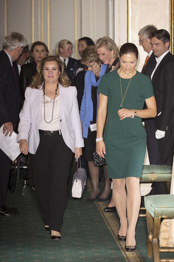 Victoria de Suecia y Maria Teresa de Luxemburgo