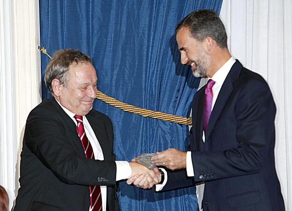 El príncipe Felipe y Xavier Vidal-Folch