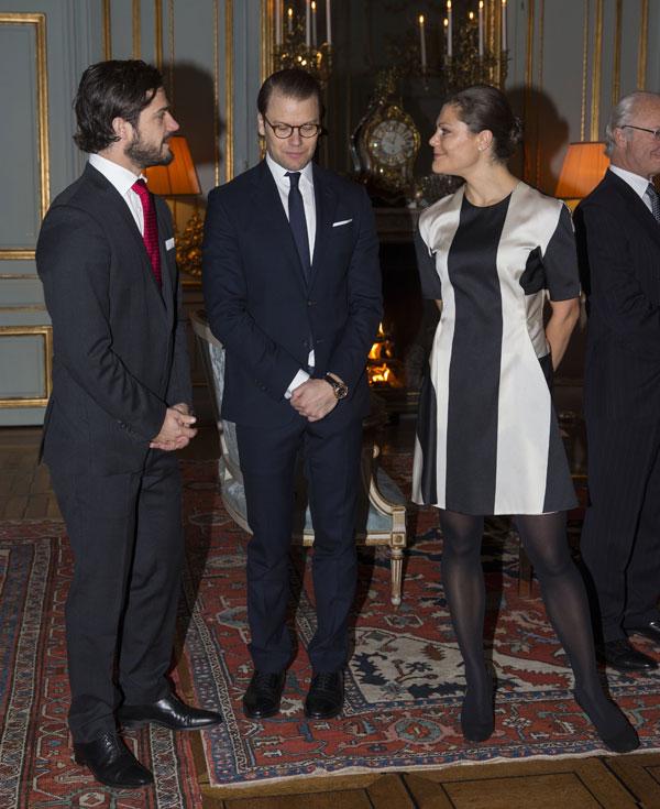Victoria, Carlos Felipe y Daniel de Suecia