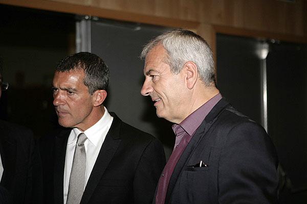 Antonio Banderas y Carlos Sobera