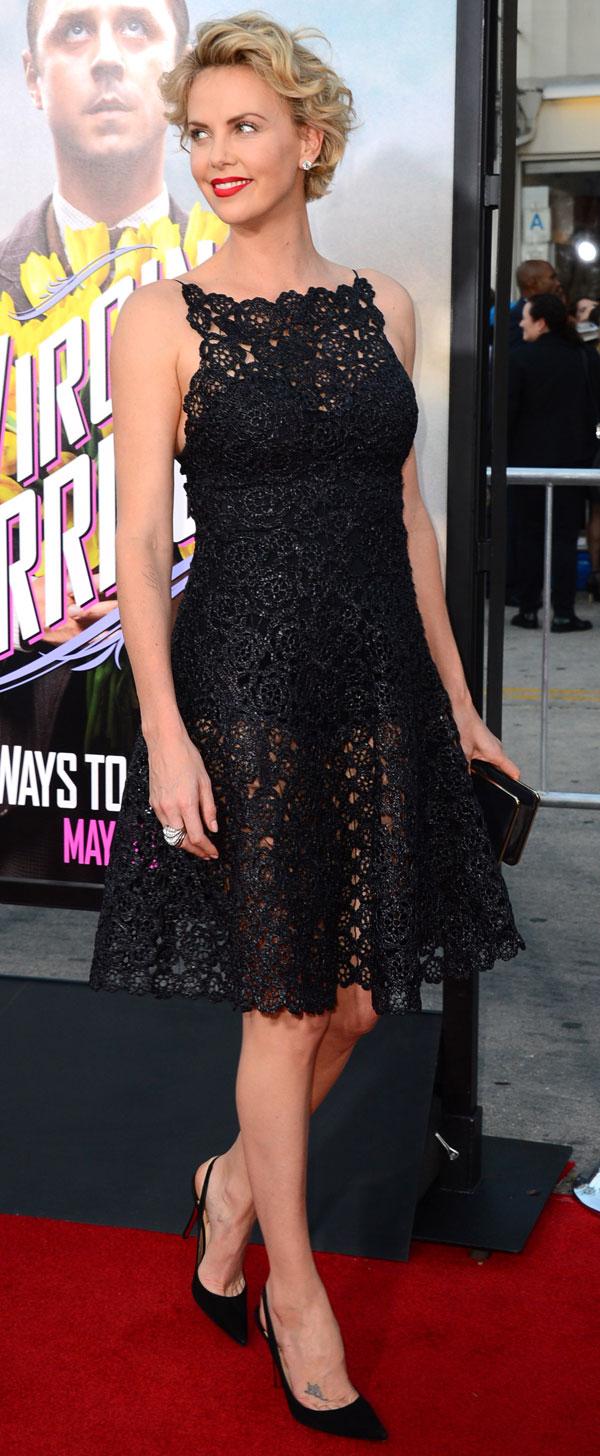 """Charlize Theron llega el estreno mundial de """"A Million Ways To Die In The West"""" en el Jueves, 15 de mayo 2014, en Westwood, California"""