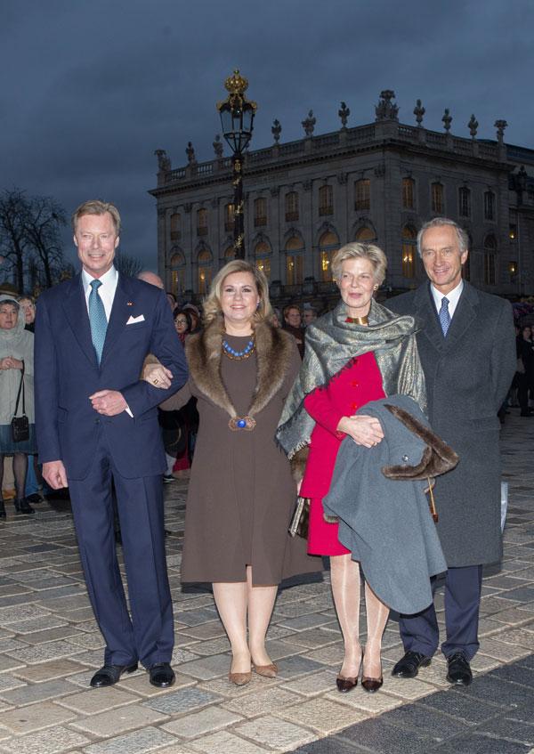 los grandes duques de luxemburgo y los archiduques christian y astrid