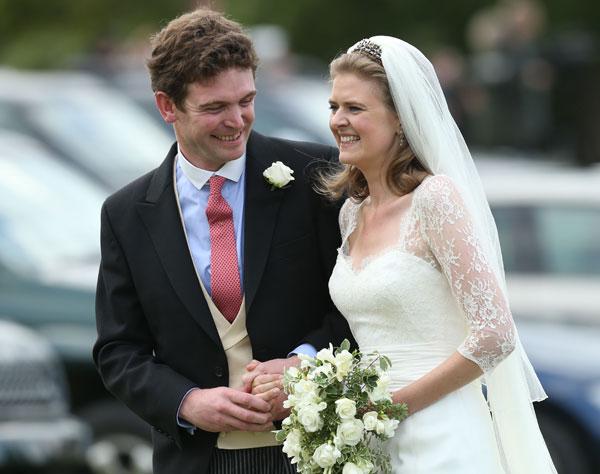 Los novios, James Meade y Lady Laura Marsham