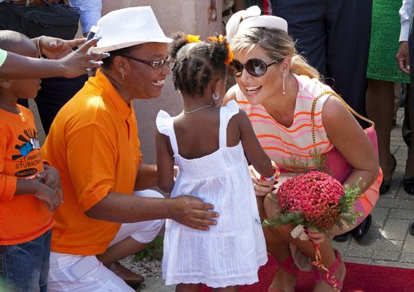 Guillermo y Máxima en Bonaire