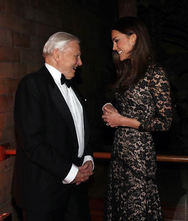 Kate Middleton y David Attenborough