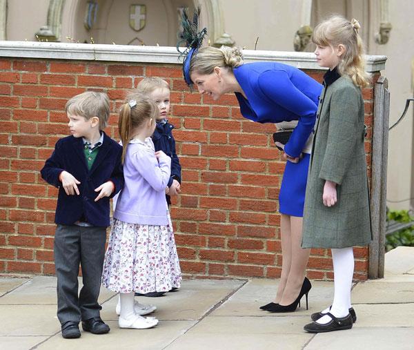 Condesa de Wessex y su hija, Louise