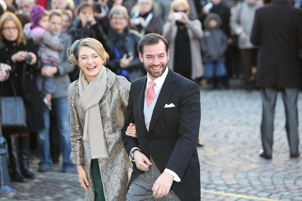 Guillermo y Stephanie, herederos de Luxemburgo.