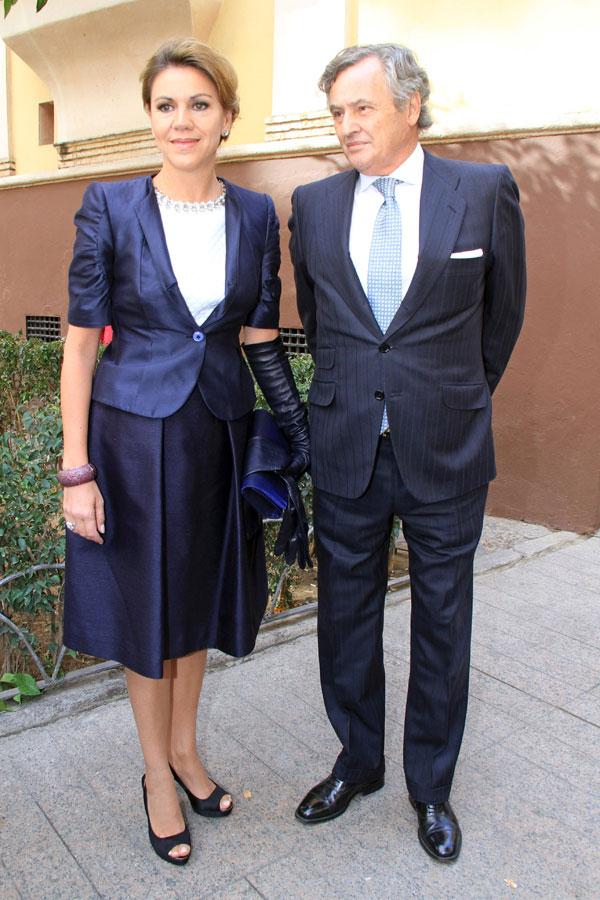 Maria Dolores de Cospedal y su marido