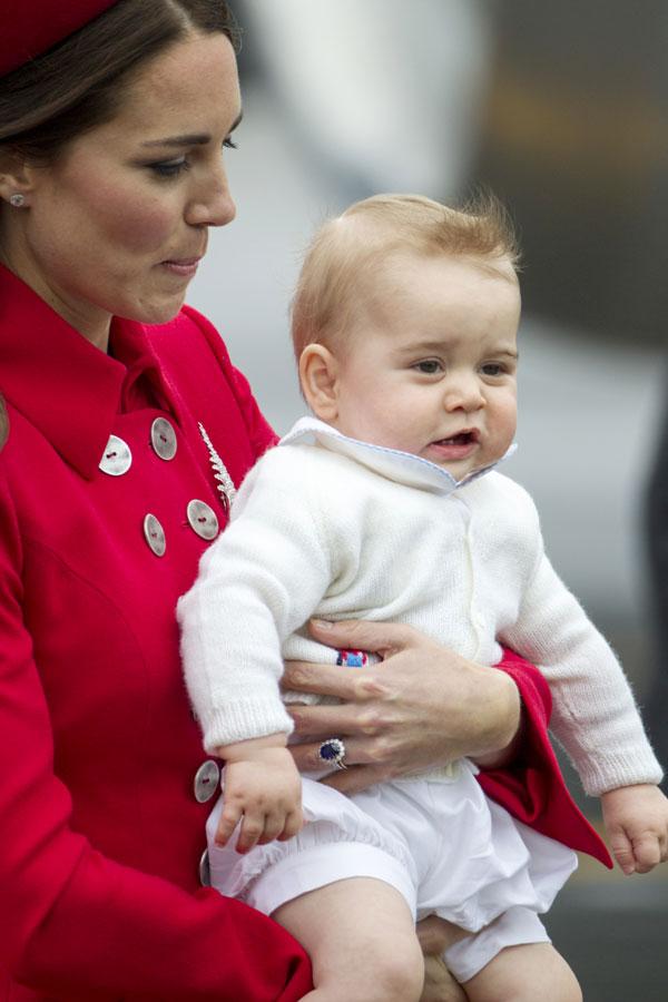 Duquesa de Cambridge y principe George