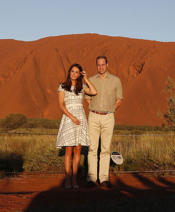 Duques de Cambridge en Uluru