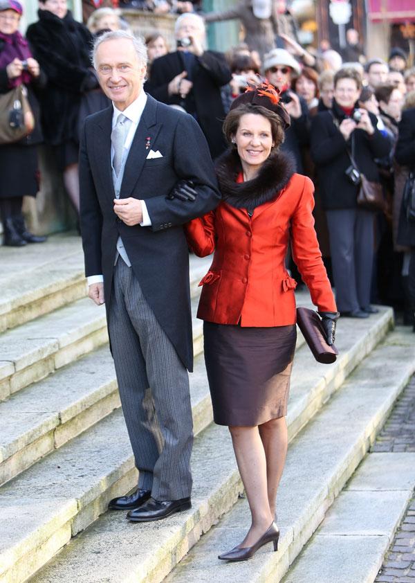 Christian de Austria, padre del novio, y la madre de la novia