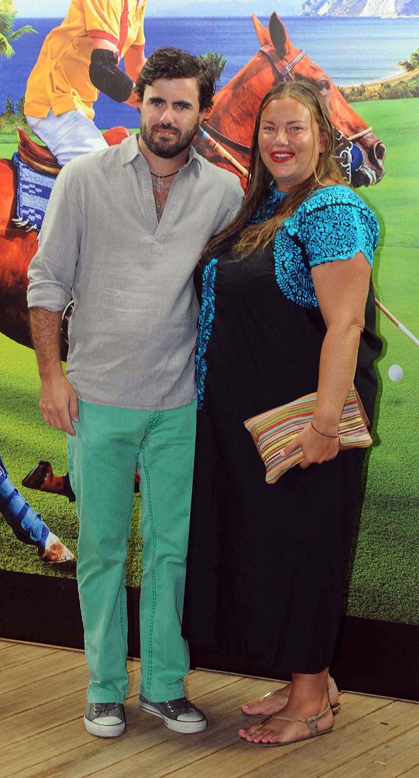 Caritina Goyanes y marido