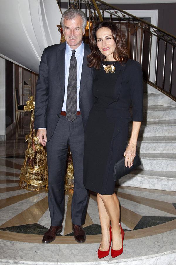 Adriana Abascal y su marido en la presentación del libro de Naty Abascal '100% Naty' en el hotel Villamagna de Madrid