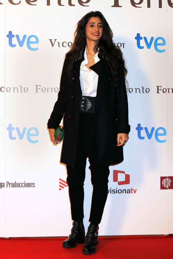 Alba Flores en el estreno de Vicente Ferrer