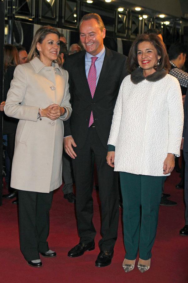 Dolores de Cospedal, Alberto Fabra y Ana Botella