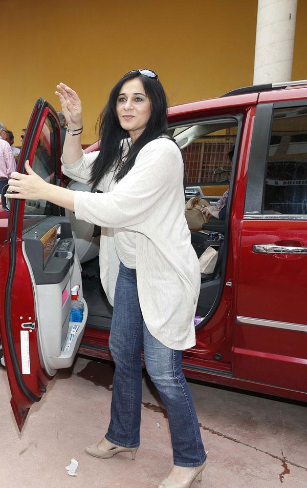 ANA MARÍA ALDÓN DURANTE SU INGRESO EN LA PRISION DE ZUERA EN ZARAGOZA 23704/2014 ZARAGOZA