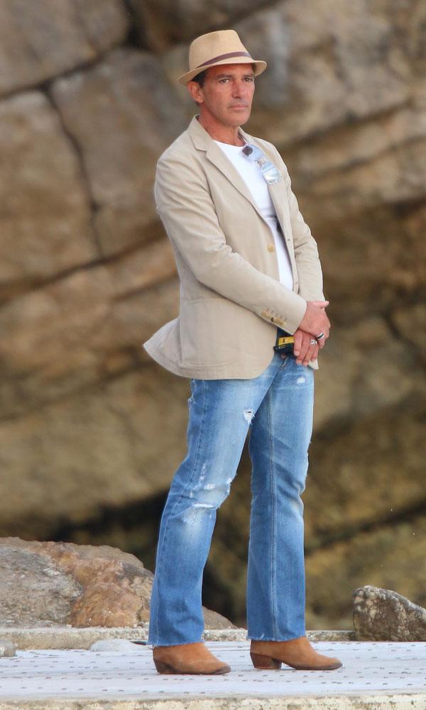 "Actor Antonio Banderas at promotion "" Expendables 3 "" during the 67th International Film Festival.  19 del 05 de 2014"