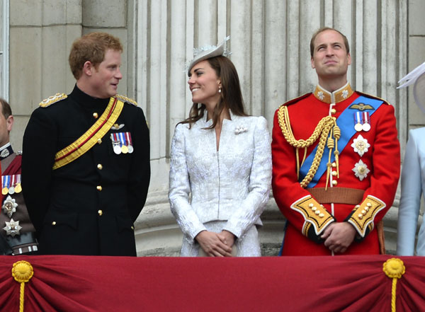 Harry Kate y Guillermo de Inglaterra