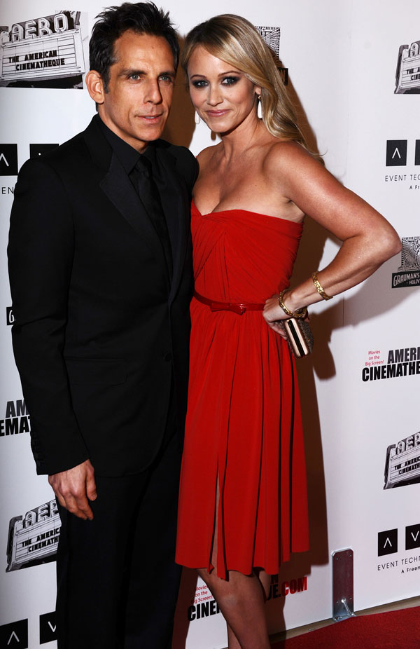 Ben-Stiller-y-Christine-Taylor en el homenaje al actor en Beverly Hills