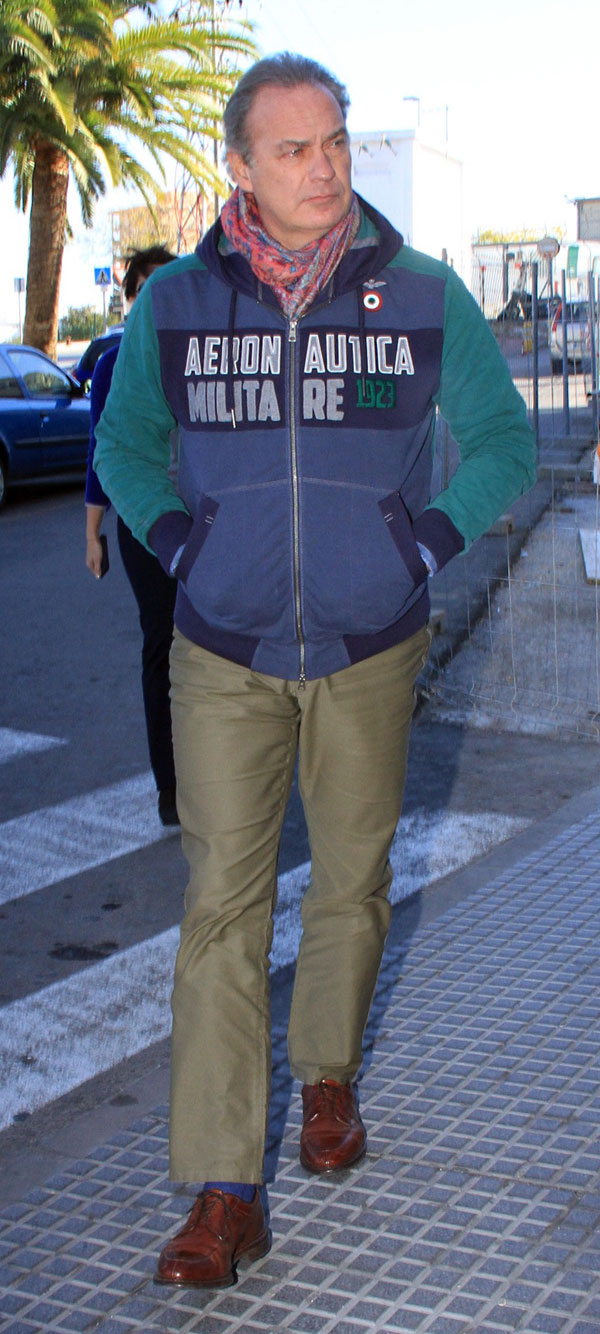 Bertin Osborne a su llegada al hospital general de Jerez de la Frontera