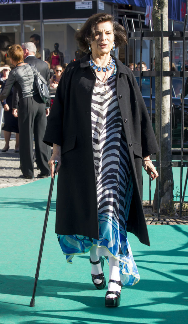 Bianca Jagger en los premios Polar de Estocolmo, los Nobel de la Musica