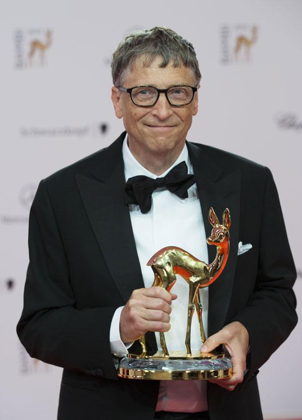 Bill Gates en Berlín, en la gala de los premios Bambi