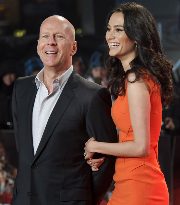 Bruce-Willis-mujer Londres